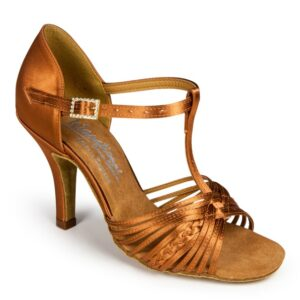 SVETLANA – TAN SATIN – International Dance Shoes